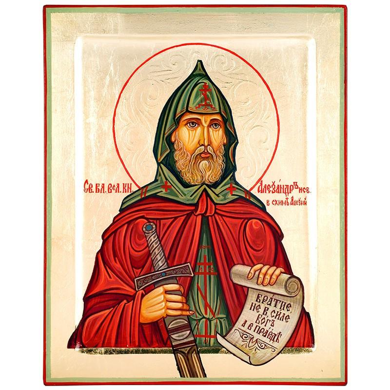 Икона писаная Святой Александр Невский (16389)