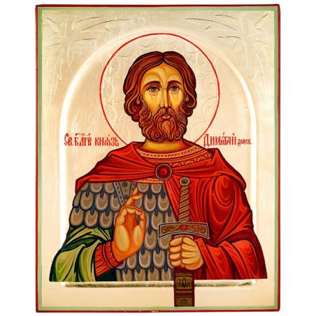 Икона писаная Святой Дмитрий Донскиой (16394)