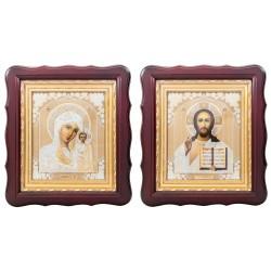 Пара икон Божья Матерь Казанская и Спаситель (16268)
