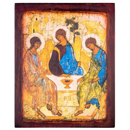 Икона на доске Святая Троица 24х30 см