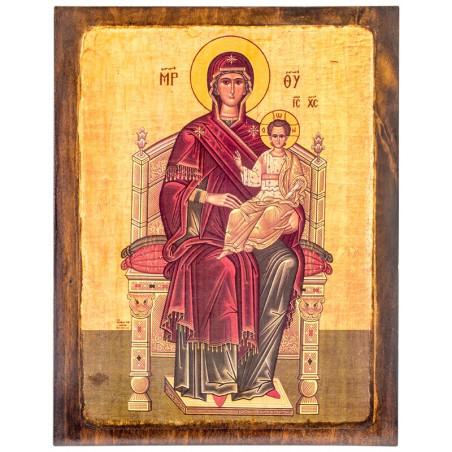 Икона на доске Божья Матерь Всецарица 24х30 см