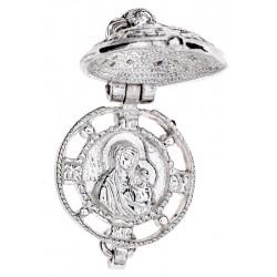 Ладанка-ароматница серебряная Божья Матерь  Казанская