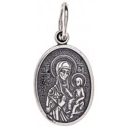 Серебряная подвеска Божья Матерь «Иверская» 16-008