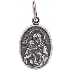 Серебряная подвеска Божья Матерь «Владимирская» 16-039