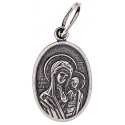 Серебряная подвеска Божья Матерь «Казанская» 16-001