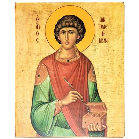 Икона Святой Пантелеимон 15х18 см