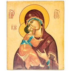 Икона Божией Матери Владимирская (15х18)