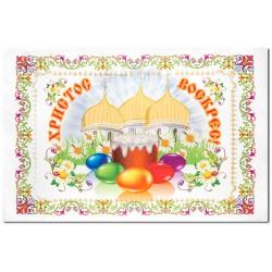 Салфетка «Пасхальная» храм с куполами