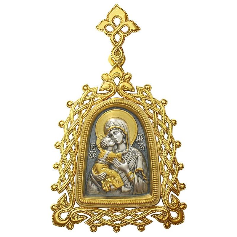 """Иконка Божией Матери """"ВЛАДИМИРСКАЯ"""" (в ажурной оправе)"""