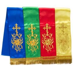 Закладка для Богослужебных книг, шелк, вышивка, бахрома