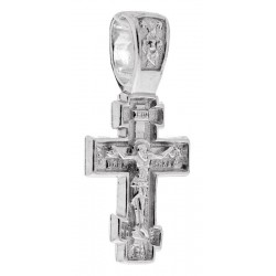 Нательный серебряный восьмиконечный крест 30-471ак