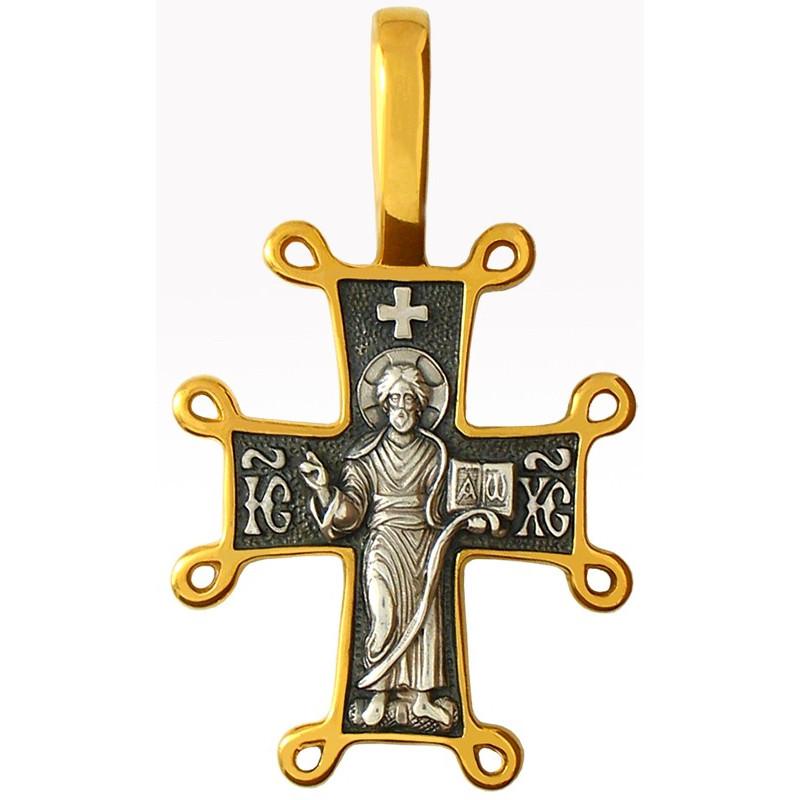 """Крест """"ГОСПОДЬ ВСЕДЕРЖИТЕЛЬ. БОЖИЯ МАТЕРЬ ОРАНТА"""" КС006"""