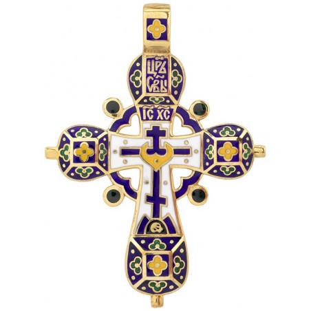 Крест эмалевый праздничный КС034
