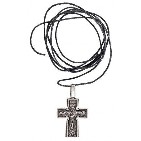 Нательный крест «Богородица и святые»