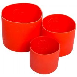 Силиконовые формы для выпечки куличей (набор из 3 штук)