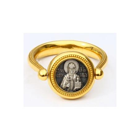 Перстень с иконой «СВЯТАЯ РАВНОАПОСТОЛЬНАЯ КНЯГИНЯ ОЛЬГА» ПС082