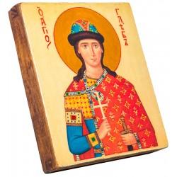 Икона Святой Глеб 11х13 см