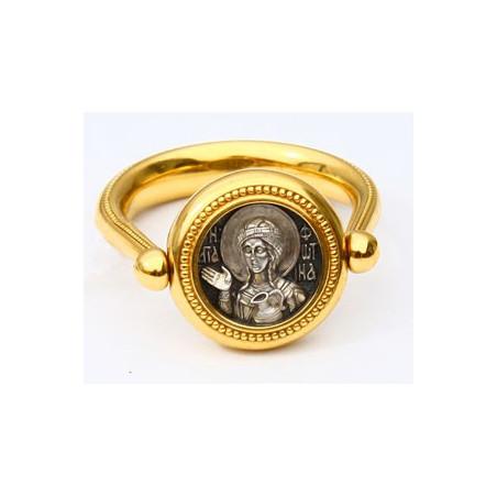 Перстень с иконой «СВЯТАЯ МУЧЕНИЦА ФОТИНА (СВЕТЛАНА)» ПС086