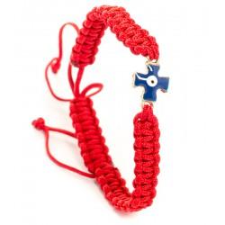 Плетенный браслет с металлическим крестом