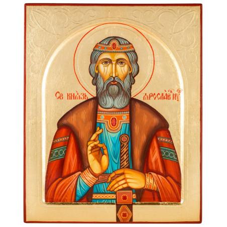 Писаная икона Святой Ярослав Мудрый 24х30 см