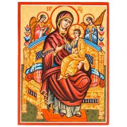 Писаная икона Божией Матери «Всецарица» 11х15 см