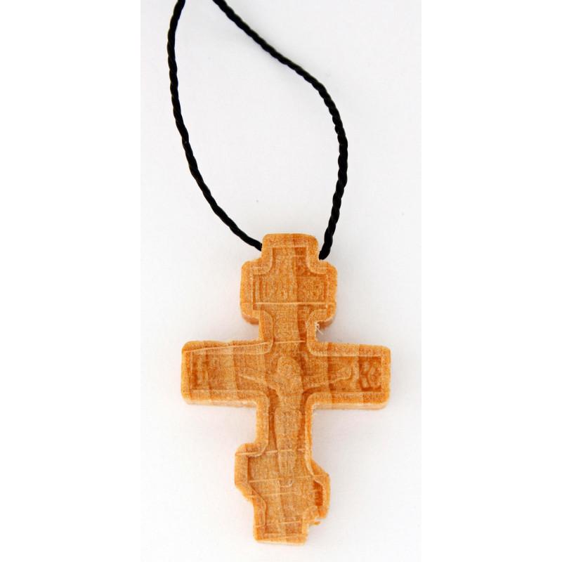 Крест нательный, деревянный, на шнурке