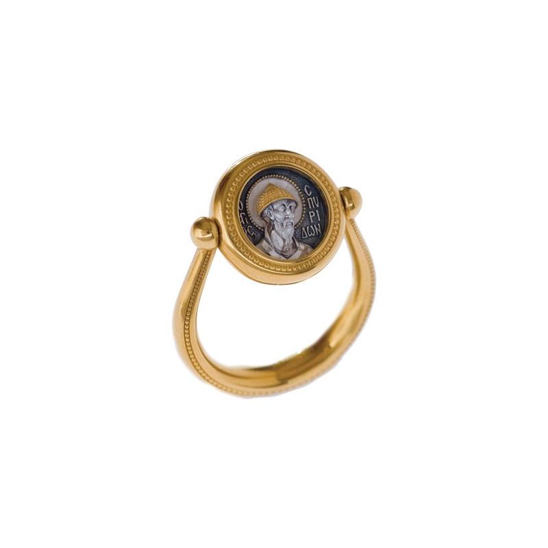 Перстень с иконой «Святитель Спиридон Тримифунтский» ПС 084