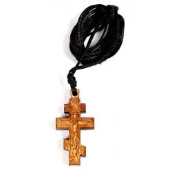 Крест нательный 8-ми конечный деревянный на шнурке (греция)