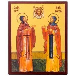 Икона Святые Пётр и Феврония 10х12 см