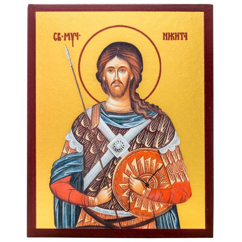 Икона Великомученик Никита Готфский 10х12 см