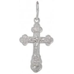 Нательный серебряный крест 1018