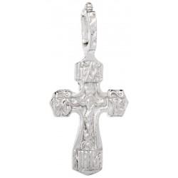 Нательный серебряный крест 1008