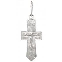 Нательный серебряный крест Пресвятая Богородица «Оранта»