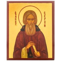 Икона Преподобный Сергий Радонежский 10х12 см