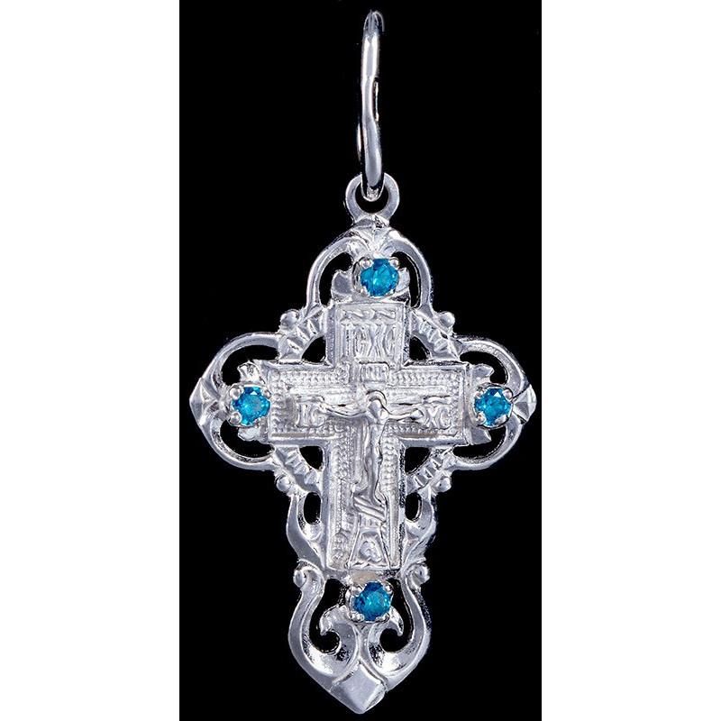 Крест серебряный нательный (ГД31104)