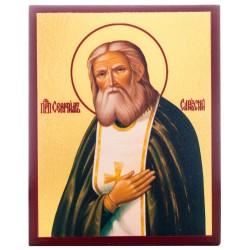 Икона Преподобный Серафим Саровский 10х12 см