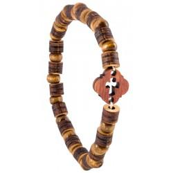 Деревянный браслет с крестом