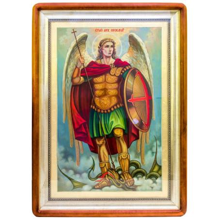 Писаная икона Архангел Михаил 51х71 см