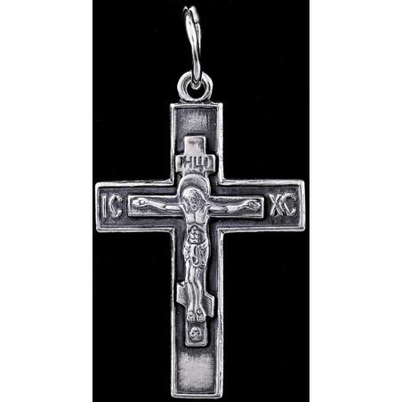 Крестик серебряный нательный (5241)