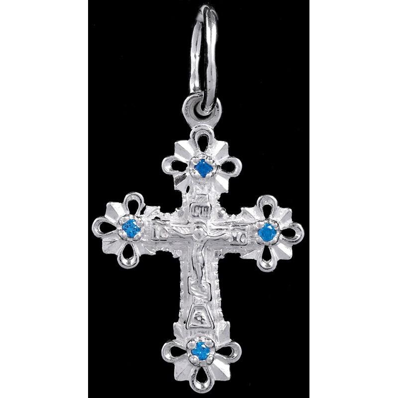 Крестик серебряный нательный (ГД08558)