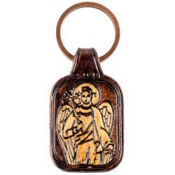 Кожаный брелок с тиснением «Ангел Хранитель»