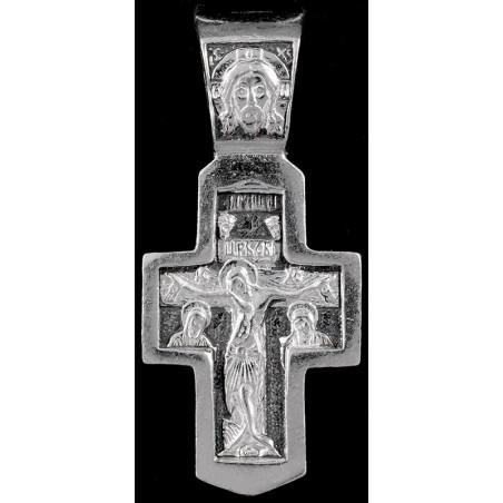 Крестик серебряный нательный (ДЗЛ-2)