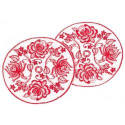 Платочек для венчальных свечей «Цветы»