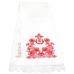 Рушник венчальный «Крест с розами» 100х20 см