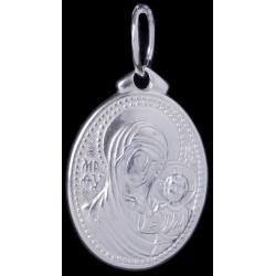 Подвеска серебряная Божья Матерь Казанская (04293)