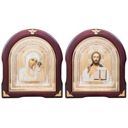 Пара икон Божья Матерь Казанская и Спаситель (16263)