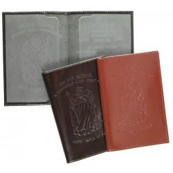 Обложка для паспорта, кожа с тиснением Ангела-Хранителя