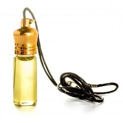 """Благовония """"Иерусалим"""" в маленькой бутылочке на кожаном шнурке."""