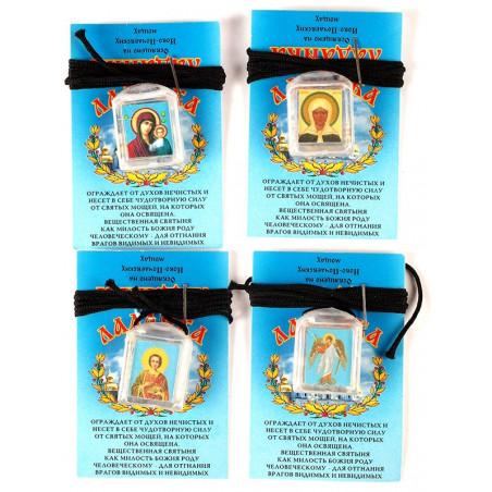 Ладанка пластмассовая с образом и освященым ладаном