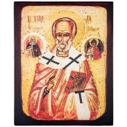 Икона на доске Святой Николай Чудотворец 24х30 см